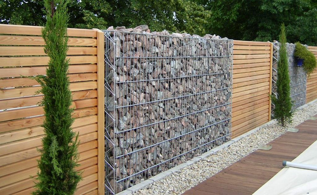 les gabions en am nagement paysager paysages rodier. Black Bedroom Furniture Sets. Home Design Ideas