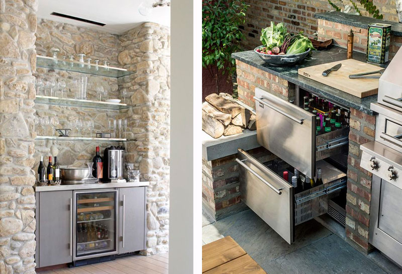 cuisine exterieure cellier frigidaire vin kitchen outdoor