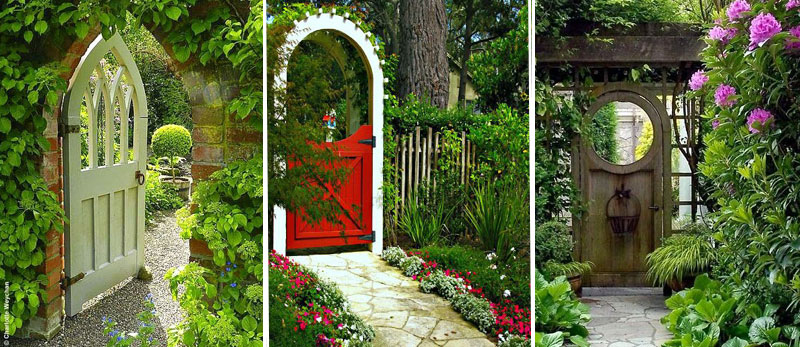 Jardin secret porte entree jardin amenagement paysages for Amenagement entree jardin