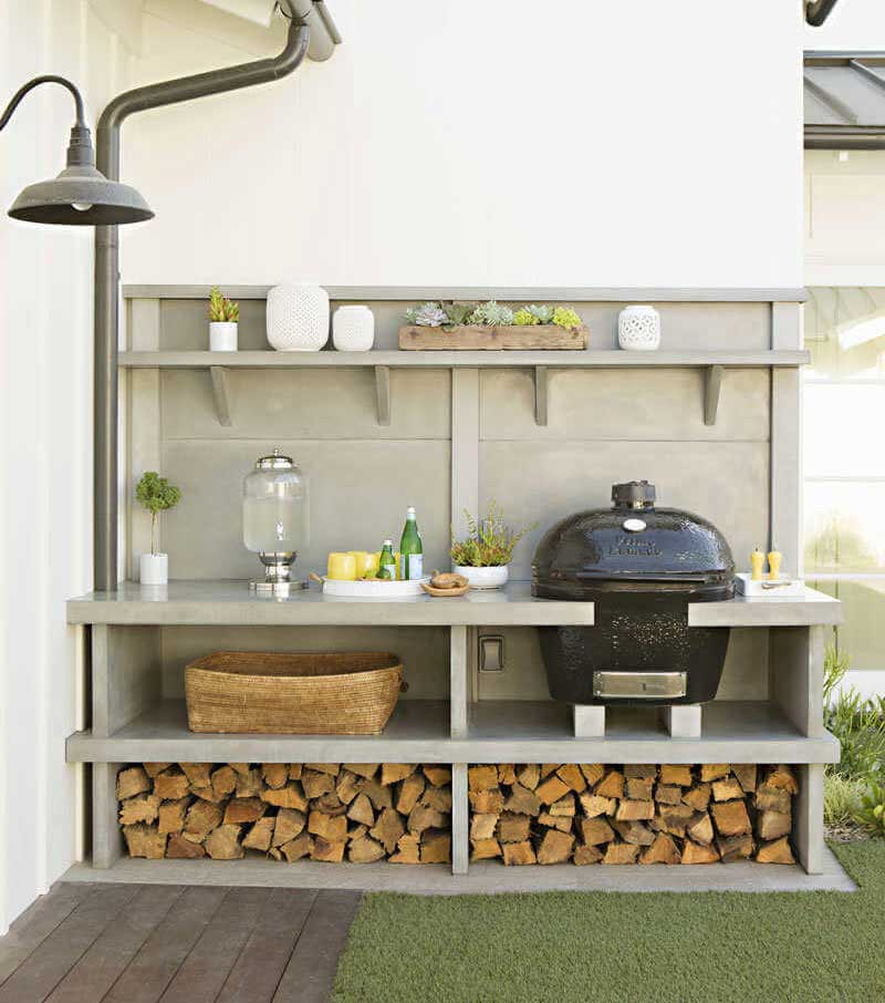 cuisine exterieur espace repas bbq fumoire smoker. Black Bedroom Furniture Sets. Home Design Ideas