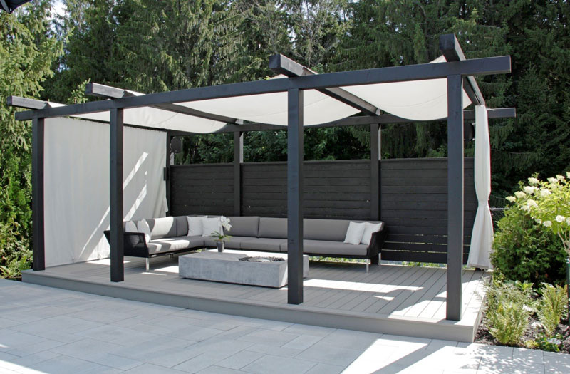 pergola rodier terrasse essentiels amenagement paysages rodier. Black Bedroom Furniture Sets. Home Design Ideas