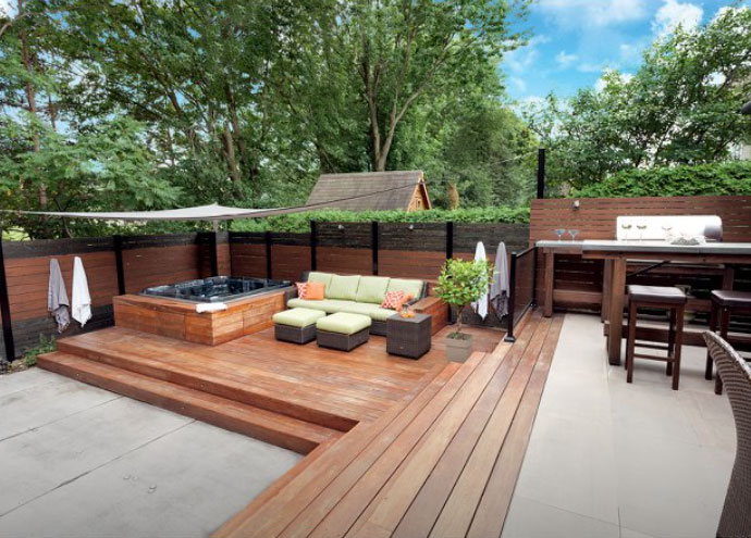 Project result: spa landscaping design the owner can enjoy