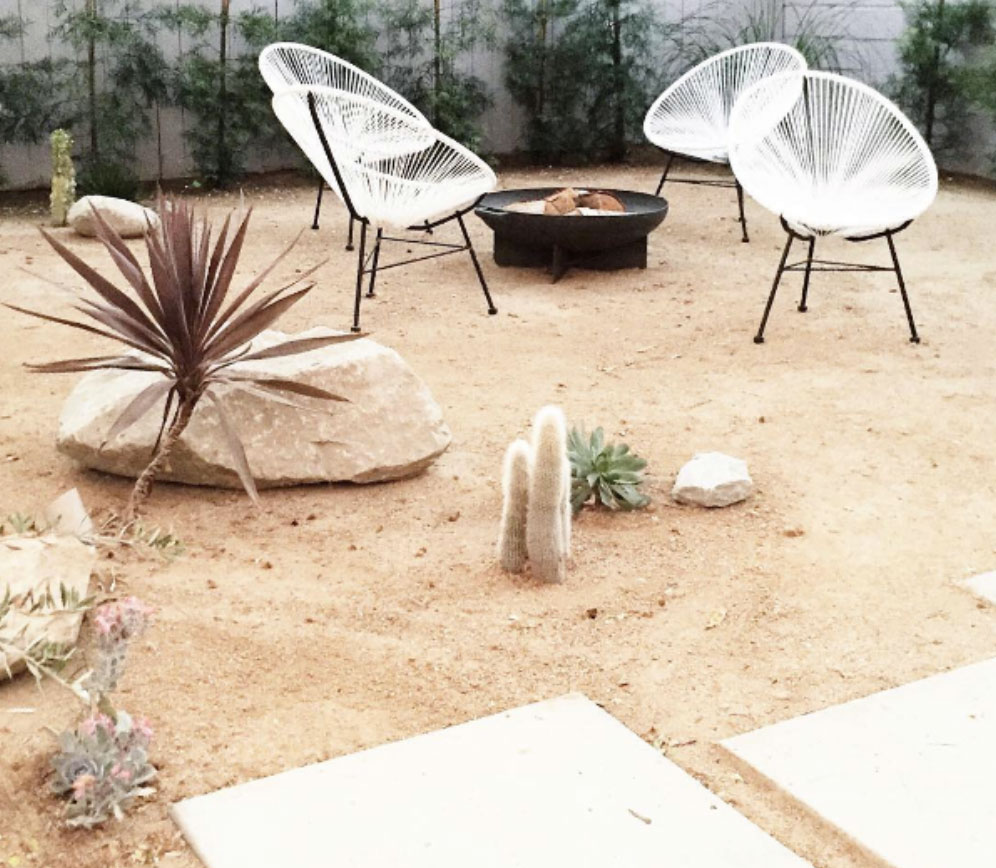 Earthy style backyard for a summer staycation
