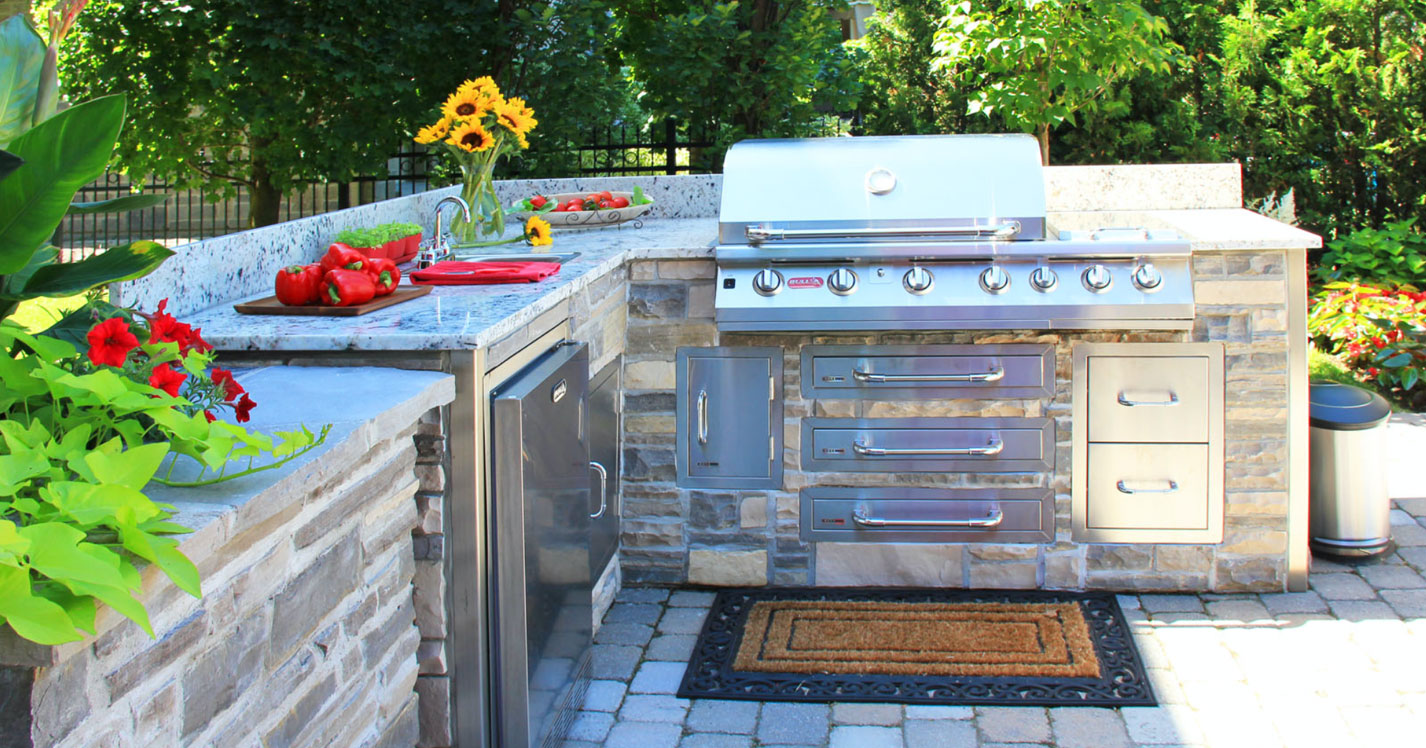 An outdoor kitchen that can get you a ROI of around 55%
